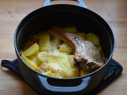 Pommes de terre Malker, pommes de terre, lard fué, munster, fromage de Munster