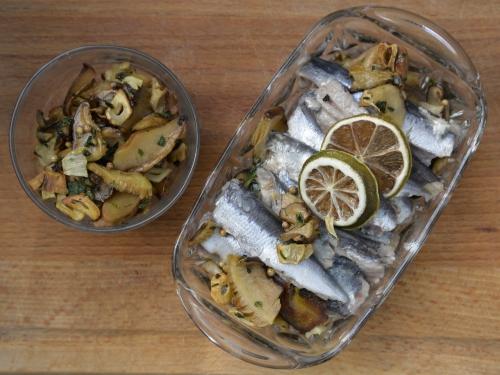 Sardines et shiitakés au vert d'ail, sardines, shiitakés, la cocotte, la voix du nord