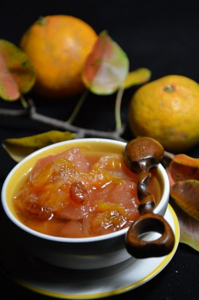 Marmelade de poires aux mandarines, poires, mandarines