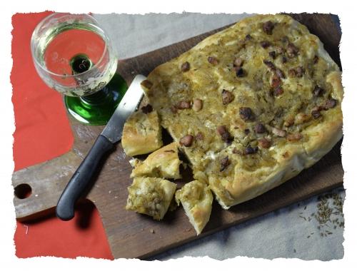 Zwiebelkuchen ou tarte briochée aux oignons, la cocotte, la voix du nord