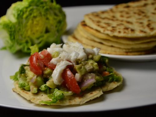 Tortillas au ceviche poisson-avocat, tortillas, ceviche, poisson, avocat