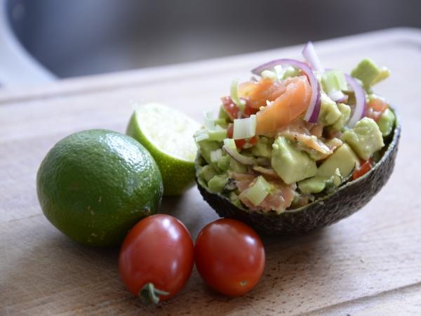 Salade d'avocats, cives et saumon, la Cocotte, la voix du nord