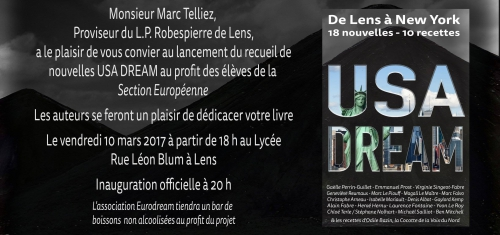 USA dream, Denis Albot, lycée Robespierre, Lens, Ingrid Albot, Ravet-Anceau
