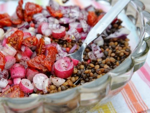 Salade rouge de lentilles des Flandres, la cocotte, la voix du nord