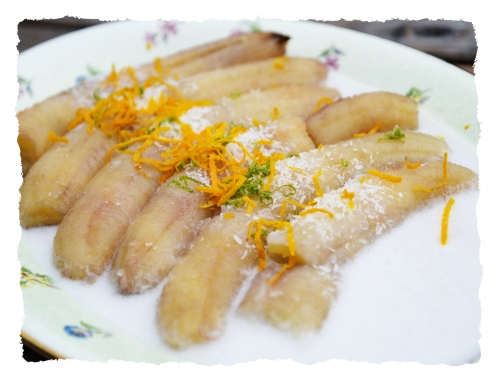 Bananes au lait de coco et citron vert, bananes, lait de coco, la cocotte, la voix du nord