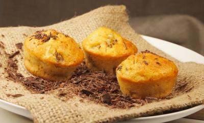 muffins des îles, muffins, banane, noix de coco