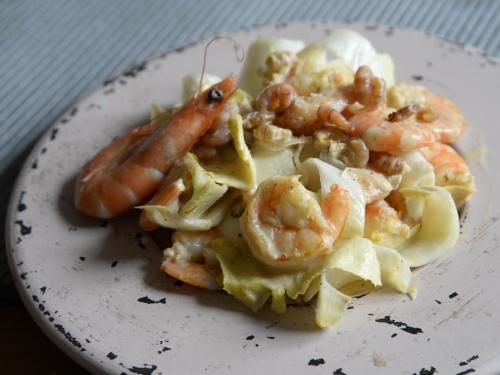 Salade d'endives aux 3 crevettes, endives, crevettes, La Cocotte, La Voix du Nord
