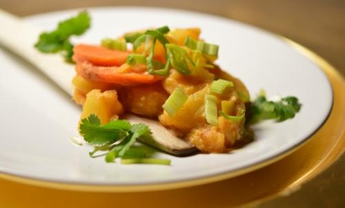 Curry de poireaux Thaï, poireaux, curry thaï, curry Panang