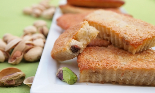 financiers pistache et halva, financiers, pistaches, halva