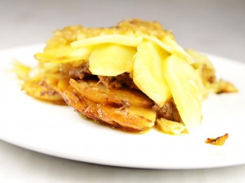 Pommes de terre au beurre d'échalions, pommes de terre, échalions, échalotes