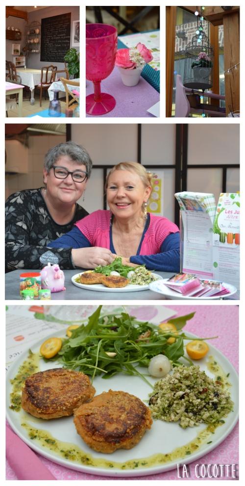 Assiette alimentation vive chez Bernadette et Camille Mercier, « Des merveilles dans la théière » à Villeneuve d'Ascq, Des merveilles dans la théière, le Chef et la Cocotte, Bernadette et Camille Mercier, la Voix du Nord