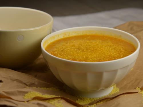 Velouté au couscous fin, velouté, couscous fin, carottes, poireaux, harissa