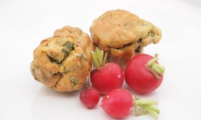 radis muffins, muffins aux radis, muffins, radis