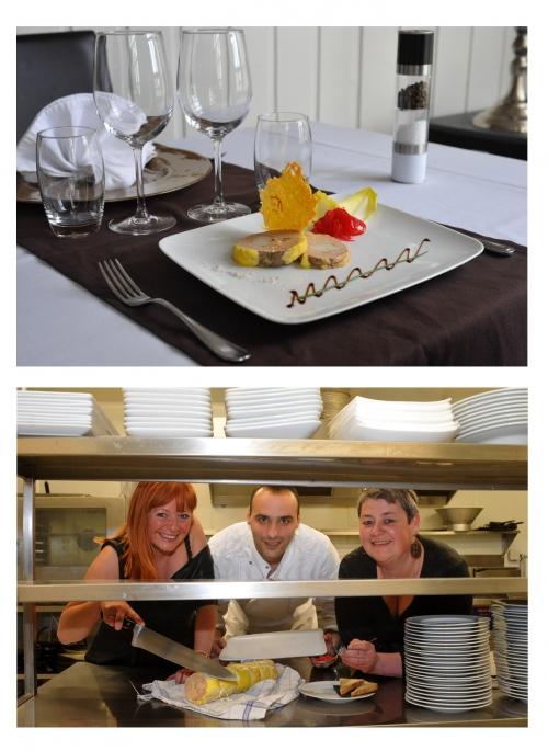 Foie gras Terre et Mer de Ludovic Barat, chef de l'Auberge de la Coulotte à Avion, Auberge de la Coulotte, Avion, Nathalie Doré, Ludovic Barat, Le Chef et la Cocotte, la Voix du Nord