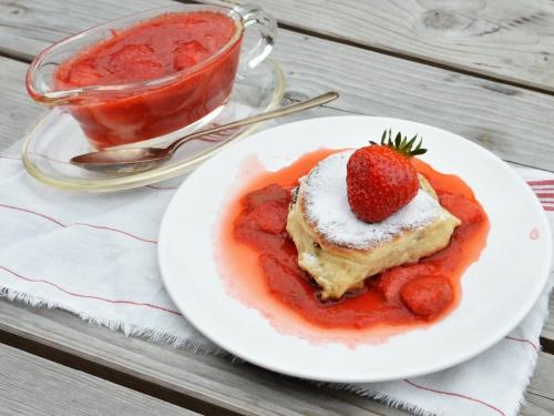Plouffes fraises-rhubarbe, plouffes, fraises, rhubarbe