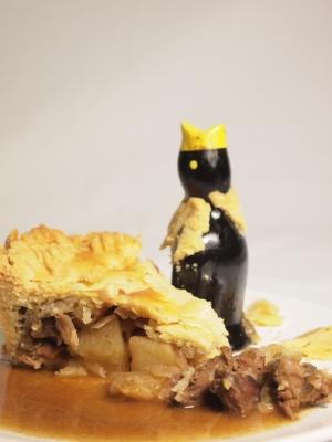 pie pommes-porc, pie aux pommes et au porc
