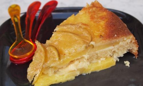 gâteau coco-rhum surprise, gâteau, noix de coco, rhum, ananas, citron vert