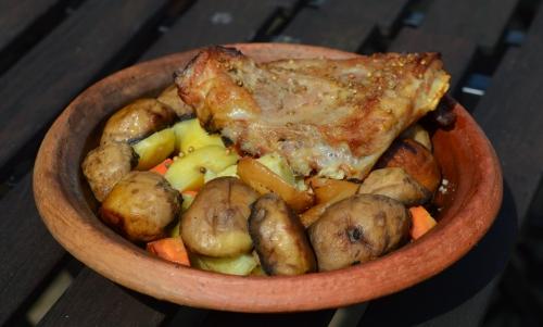 Agneau BBQ et tajine aux champignons, agneau au barbecue, tajine aux champignons, tajine, champignons