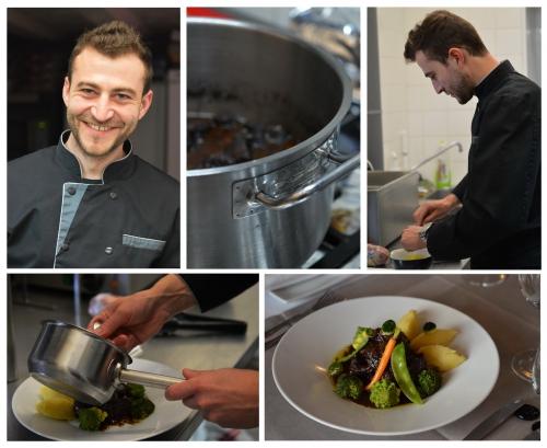 Joue de bœuf façon Bourguignon, Florian Eustache, la Juste Place, Aulnoye-Aymeries, le chef et la Cocotte, la Cocotte