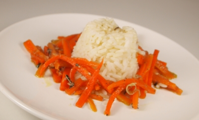riz carottes et anchois, riz, carottes, anchois