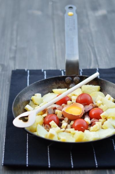 Hoppel poppel à la tomate, hoppel poppel