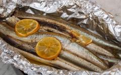 équilles, sardines