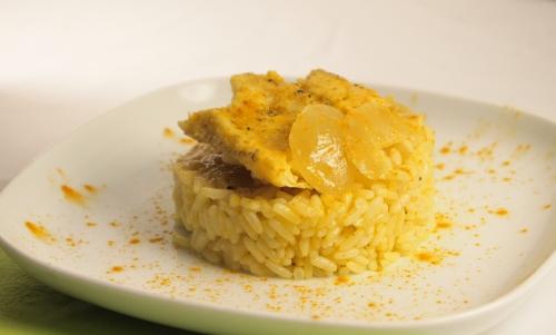 cassolette riz et lieu noir, riz, lieu noir, curcuma