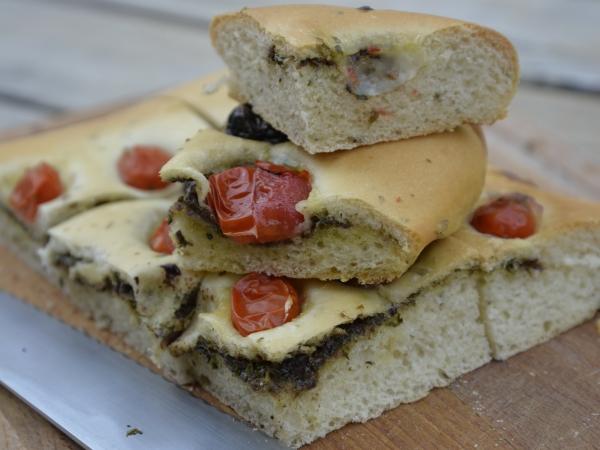Fougasse tomates, olives et basilic, la Cocote, la voix du nord