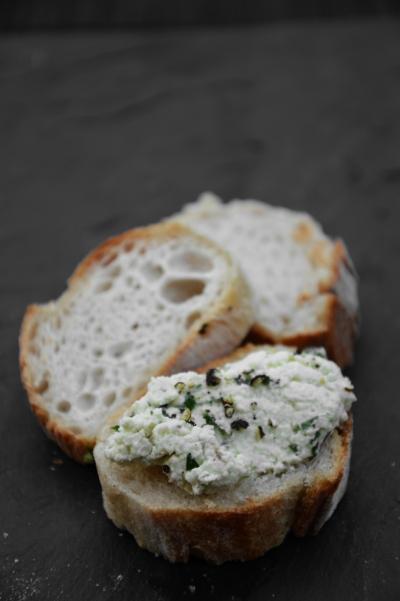 Fromage frais aux herbes, fromage frais, herbes, ciboulette, ail, échalote
