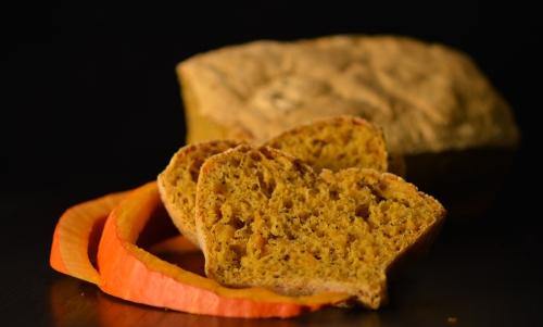 pain à la citrouille, courge, potimarron