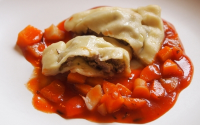 ravioles, carottes, navets