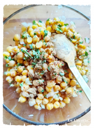 salade de pois chiches à la marocaine,la cocotte,la vie en bleu,france bleu nord