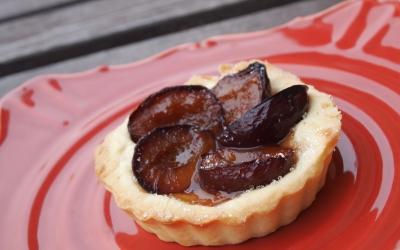 tartelettes surprise aux prunes, prunes, tartelette