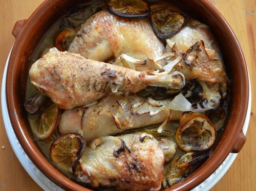 Porto poulet, poulet, porto, citrons, oignons, piri-piri