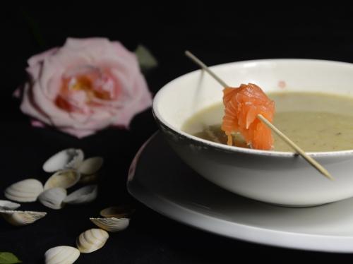 Velouté d'endives lard et saumon, la Cocotte, la Voix du Nord, endives, saumon