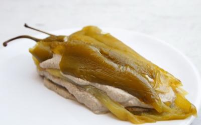 poivrons, anchois, poivrons à la crème d'anchois, la Cocotte