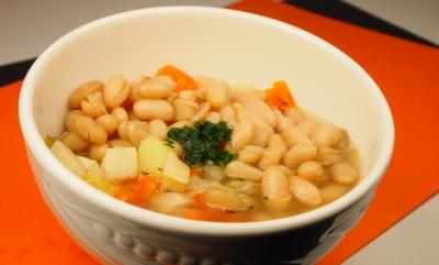 soupe de lingots au beurre d'ail, lingots