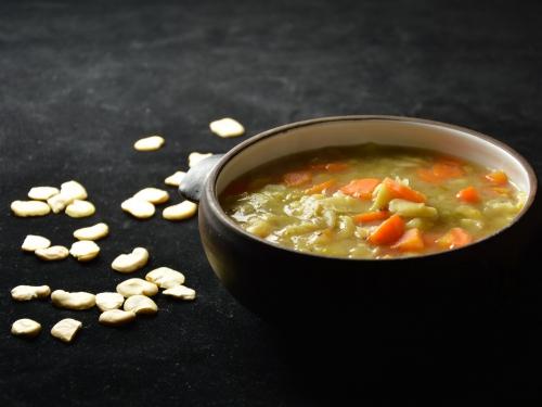 Soupe de fèves aux carottes, fèves sèches, fèves, carottes