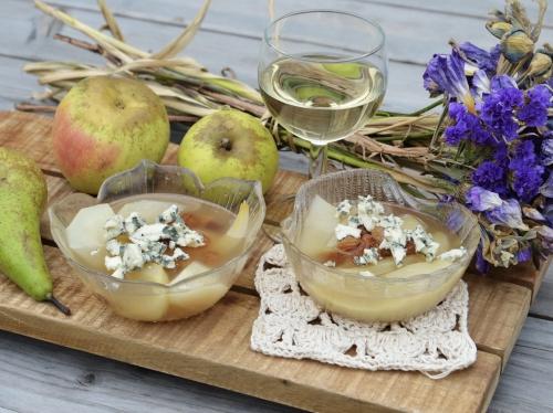 Pommes-poires en gelée de vin, pommes, poires, gelée, vin