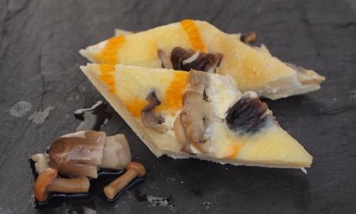 tarte au taleggio et champignons, taleggio, champignons à l'huile, Ombrie, Italie