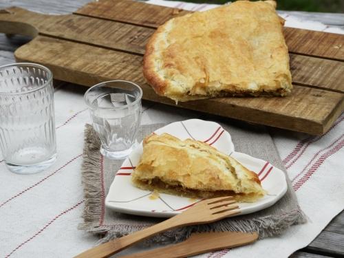 Scacciata feuilletée aux oignons, scacciata, oignons, pâte feuilletée, la Cocotte, la Voix du Nord