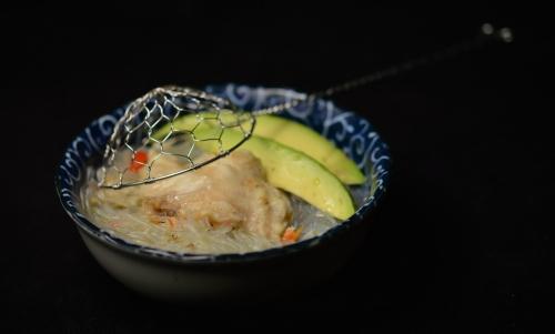 Bouillon poisson-vermicelle, bouillon, vermicelle chinois, La Cocotte