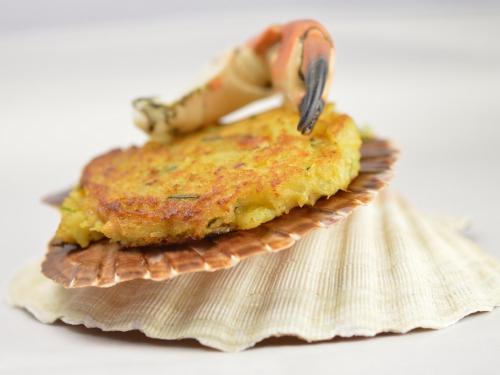 Crabe galettes aux épices, crabe, miettes de crabe, pinces de crabe