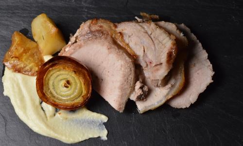 Rôti de porc à la crème de céleri, rôti de porc, porc, céleri