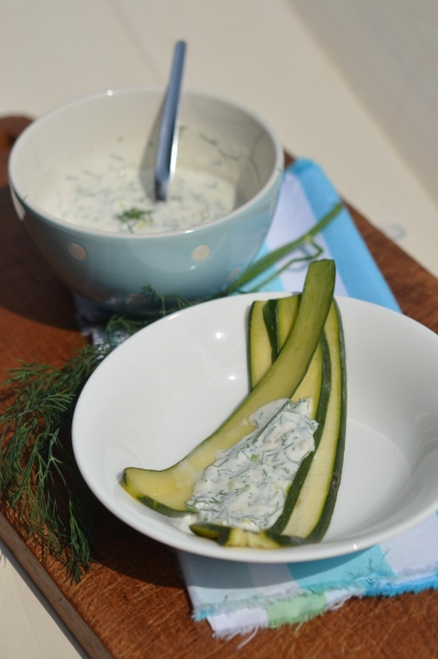 Courgettes et aneth au fromage blanc, courgettes, aneth, fromage blanc