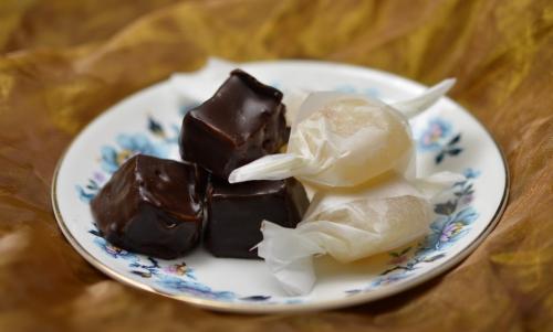 Caramels au chocolat, caramels, chocolat, caramel, La Cocotte