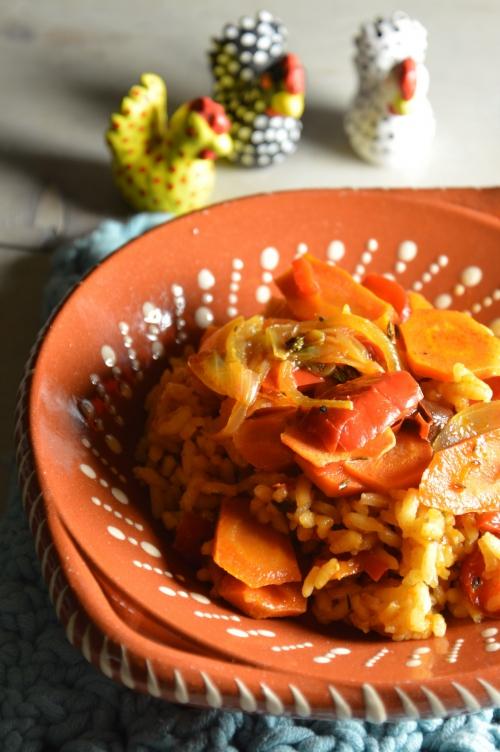 Riz rouge aux légumes
