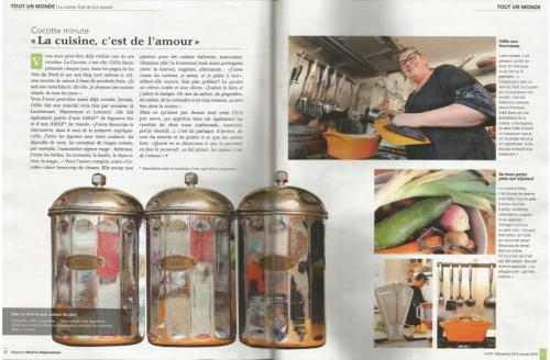 Galettes Sud-Ouest, magret de canard séché, mache, Roquefort, magazine Le Nord, La Cocotte