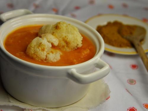 Velouté chou-courge au curry, chou, courge, potimarron, curry
