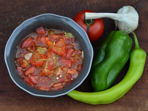 Felfel wallah, tomates, poivrons